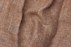 Säckväv texturerad bakgrundsbrunt Royaltyfri Bild