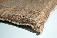 Säckvävkaffesäck Arkivbild