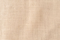 Säckvävsäck, modell för hampatexturbakgrund Royaltyfria Bilder