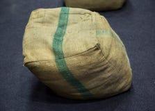 Säckvävsäckstol Royaltyfria Bilder