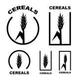 Sädes- örasvartsymbol Arkivfoton