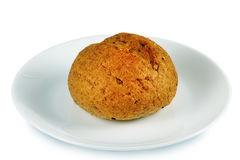 Sädes- bröd på en platta royaltyfri bild