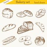 Sädes- bröd, torra bisquits och smällare i textilportionkorg Royaltyfri Fotografi