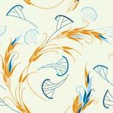 Sädesslag och gräs. Seamless mönstra. Vektor. Arkivbilder