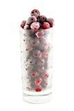 Säfte und gefrorene Beeren stockbild