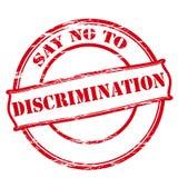 Säg inte till diskriminering vektor illustrationer