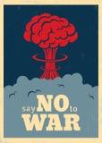 Säg inte till kriget stock illustrationer