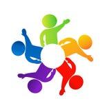 Säga för teamwork som är högt Arkivbild