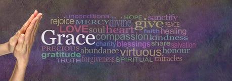 Säga Grace Prayer Hands arkivbild