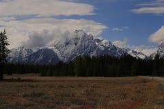 Sägezahn-Spitze - großartiger Nationalpark Teton stockbilder