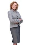 Säker affärskvinna Arkivfoto