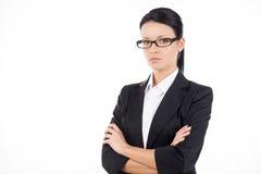 Säker affärskvinna. Arkivfoto