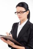 Säker affärskvinna. Fotografering för Bildbyråer