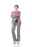 Säker asiatisk affärskvinna royaltyfria bilder