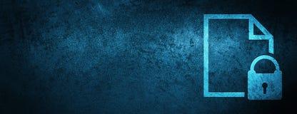 Säker bakgrund för baner för blått för sakkunnig för dokumentsymbol royaltyfri illustrationer