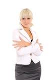 säker blondin Arkivbilder