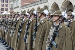 Säker ceremoni för Polen NATO-välkomnande i Krakow, Polen arkivfoto