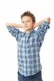 Säker & charmig tonårs- pojke Royaltyfri Bild