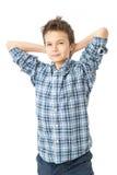 Säker & charmig tonårs- pojke Fotografering för Bildbyråer
