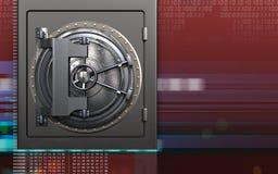 säker dörr för stål 3d Arkivbild