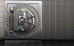 säker dörr för valv 3d Royaltyfria Bilder