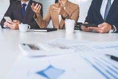 Säker företagsledare, konferens för affärslagmöte i nolla Royaltyfri Foto