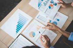 Säker företagsledare, konferens för affärslagmöte i nolla Arkivbilder