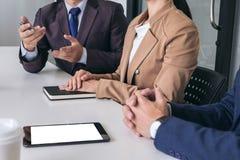 Säker företagsledare, konferens för affärslagmöte i nolla Royaltyfri Fotografi
