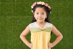 säker flicka little Royaltyfri Foto