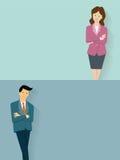 säker kvinna för affärsman Arkivfoton