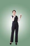 säker kvinna för asiatisk affär royaltyfri bild