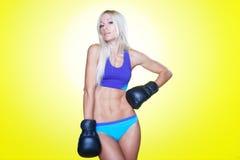 säker lady för boxare Arkivbild