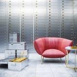 Säker lagring 3d för bank Royaltyfria Bilder