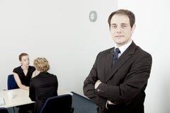 Säker ledare eller chef Arkivbilder