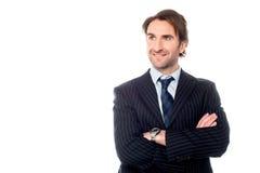 Säker ledare för företags affär Arkivfoton