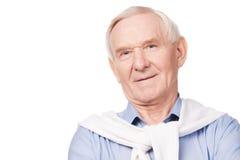 säker manpensionär Fotografering för Bildbyråer
