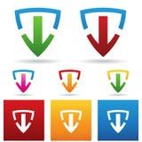 Säker nedladdningsymbol vektor illustrationer