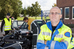 säker person med paramedicinsk utbildning Fotografering för Bildbyråer