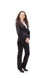 säker plattform kvinna för affär arkivbild