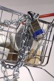 säker shopping för vagn Royaltyfri Fotografi