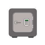 Säker symbol för metallbank i en plan stil Arkivfoton
