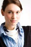 säker teen kvinna för affär Arkivbild
