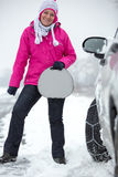 Säker vinterkörning royaltyfria bilder