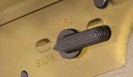 Säkerhet AR-15 som är på arkivfoto