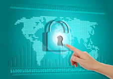 Säkerhet av information på internet Arkivfoton