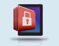 Säkerhet av mobila enheten Fotografering för Bildbyråer