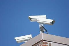 säkerhet för 2 kameror Arkivbilder