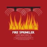 Säkerhet för brandspridareliv Arkivbild