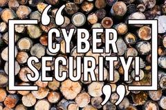 Säkerhet för Cyber för handskrifttexthandstil Begreppsbetydelsekodar online-förhindrandet av attackvirus träinformation vektor illustrationer