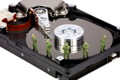 säkerhet för datorbegreppsdata Royaltyfri Fotografi